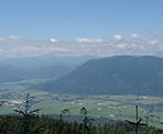 View of the farmland below from Sumas Mountain