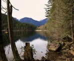 The view along the Buntzen Lake Trail looking towards the North Beach
