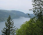 The view of Cultus Lake from the top of Teapot Hill