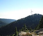 A view of the windmill at Grouse Mountain from Thunderbird Ridge