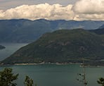 The view from Tunnel Bluffs of Howe Sound towards Bowen Island