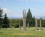 The Japanese Totem Poles on Burnaby Mountain near Horizons Restaurant