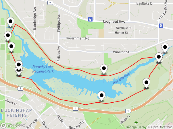 Burnaby Lake Map