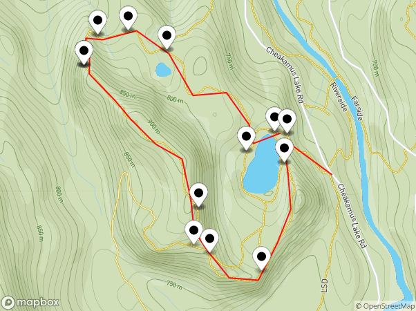 Crater Rim Trail Map