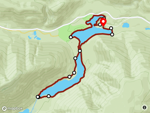 Lightning Lake Loop Map