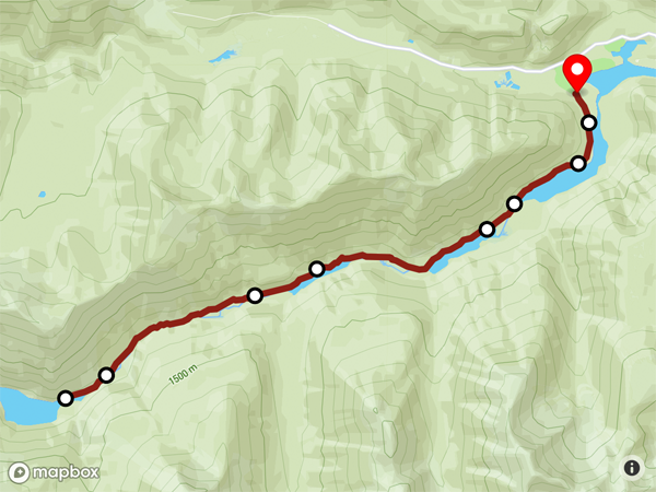 Lightning Lakes Chain Trail Map