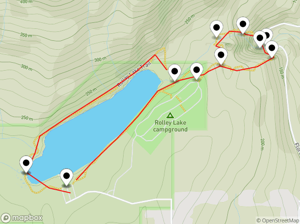 Rolley Lake Map