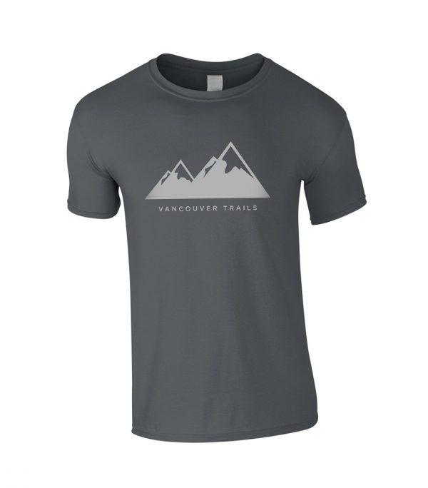 Vancouver Trails Men's T-Shirt Charcoal