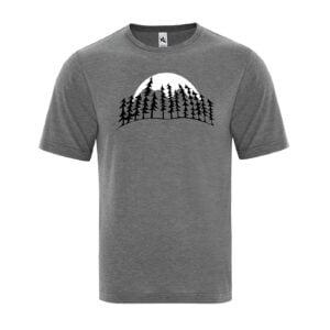 Treeline Moon Men's Grey T-Shirt