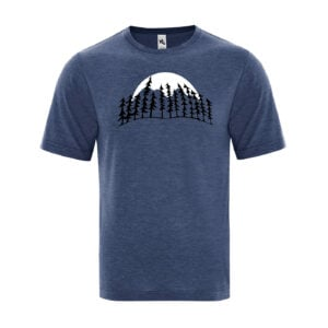 Treeline Moon Men's Navy Blue T-Shirt