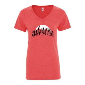 Treeline Moon Women's Red T-Shirt